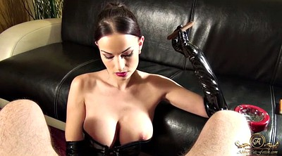 Latex, Smoking, Latex handjob