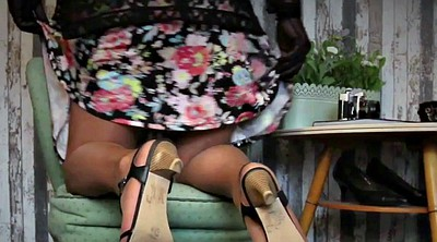 Nylon feet, Skirt, Nylon handjob, Feet nylon
