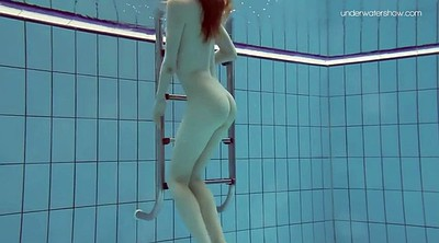 Underwater, Teen hairy, Swim, Swimming pool, Redhead hairy, Swimming