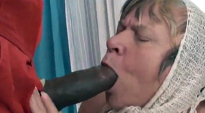 Sucking black cock, Granny black cock