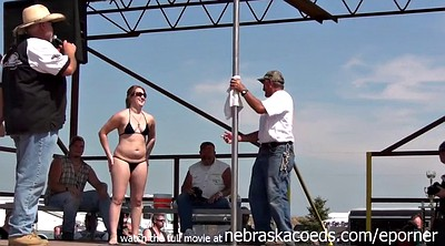 Naked, Public amateur, Pole dancing