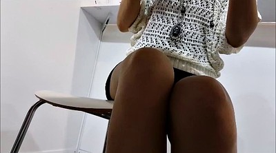 Secretary, Under table, Under, Upskirt voyeur