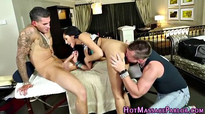 Double penetration, Threesome massage, Double facial