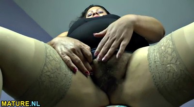Hairy mature, Fat hairy, Undressing