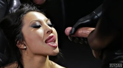 Asa akira, Akira, Asian milf, Asian cumshot, Asian latex