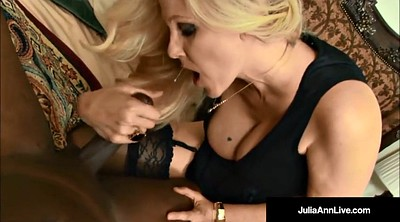 Julia ann, Julia, Cum pantyhose, Anne, Black pantyhose, Black blonde
