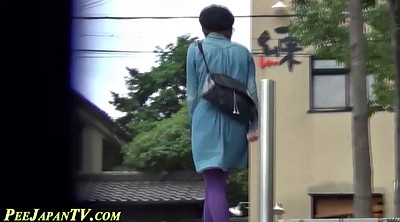 Asian pee, Asian bitch, Outdoor piss, City