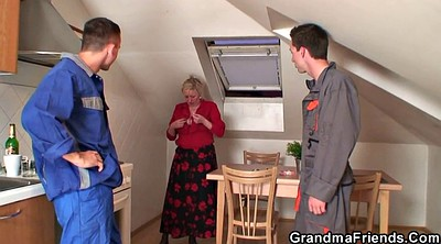 Grannies, Young busty, Old grannies, Mature threesome