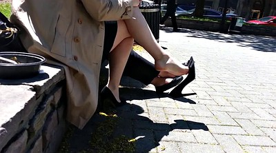 Candid, High, High-heeled shoes, Candid feet, Shoe fetish