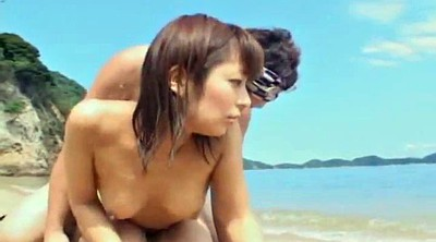 Japanese beach, Japanese girl