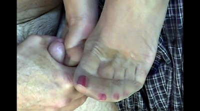 Nylon feet, Cum on feet