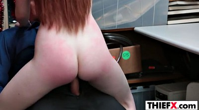 Teen, Big, Thief, Redhead, Teen thief, Tits fuck