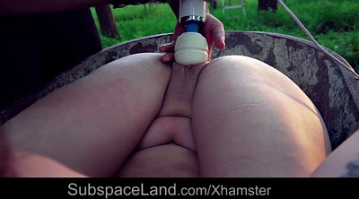 Swallowing, Pierced, Humiliation, Humiliated, Outdoor swallow