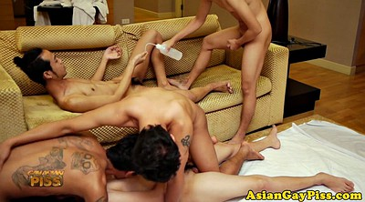 Piss, Pissing, Asian piss, Orgy anal, Group piss