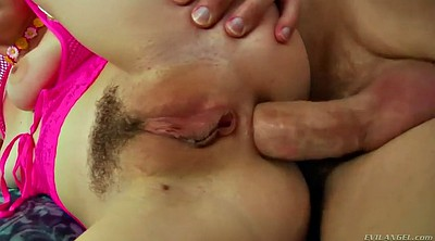 Gape, Fucking, Hairy chubby, Jungle