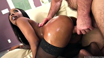 Ebony, Sarah big butt, Sarah banks, Ebony anal creampie, Ass creampie