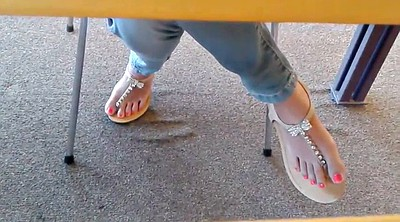 Candid, Library, Feet fetish