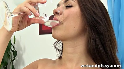 Pissing, Glasses, Sluts, Brunette glasses