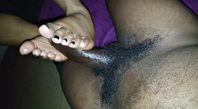 Footjob, Ebony feet, Black foot