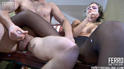 White pantyhose, Pantyhose blowjob