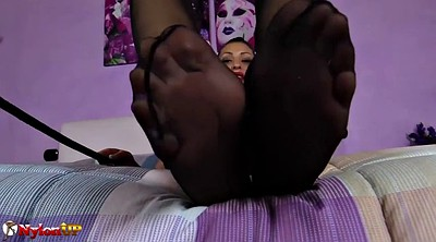 Foot, Feet, Mistress, Stocking footjob