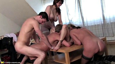 Young boy, Old mom, Private, Party fuck, Mom boy, Mature group