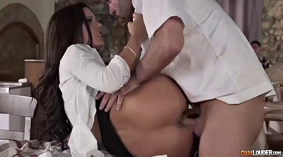 Public handjob, Latina doggy fucking brunette