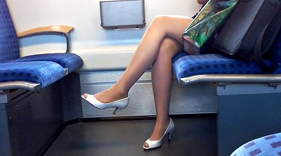 Hot, Toes, Peep, Peeping, In train