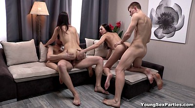 Kiss, Teen party, Swingers party, Young sex party
