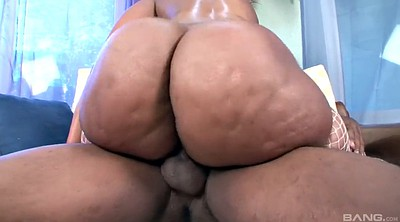 Ebony bbw, Cowgirl, Chubby ass