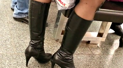 Boots, Milf boots, Mature pantyhose