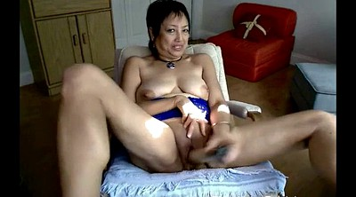 Asian masturbation, Granny webcam, Asian granny