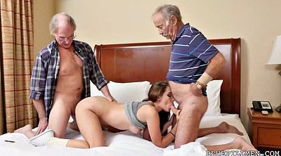 Old and young, Double blowjob