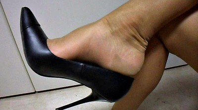 Shoe, Shoes, Office foot, Office nylon, Nylon fetish, Feet nylon