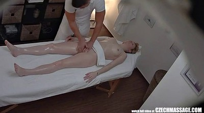 Young girl, Table, Czech massage