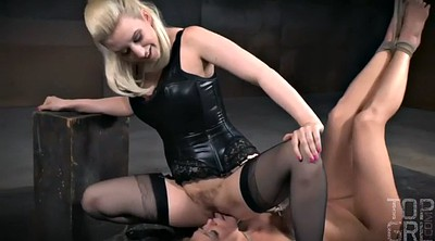 Torture, Ass, Latex bondage, Dee, Submissive, Cherry torn