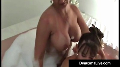 Busty matures, Bath, Shower threesome