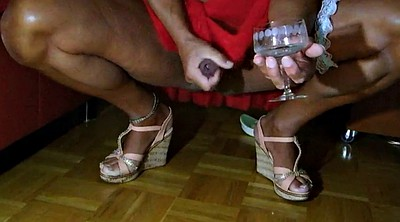 Cd, Drink, Feet gay, Crossdresser cum, Miniskirt, Gay cum