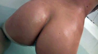 Big tits, Shower, Bathroom masturbation