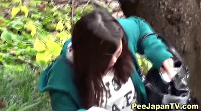 Piss, Public park, Asian slut