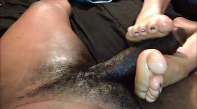 Footjob, Black girl