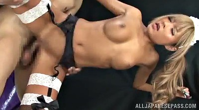 Maid fuck, Asian doggy