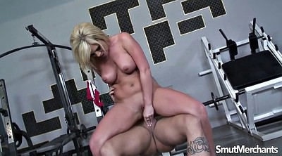 Sports, Cum mouth, Blonde milf