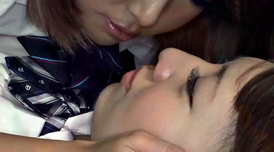 Japanese lesbian, Short, Tongue, Asian lesbian, Japanese skirt, Kiss japanese