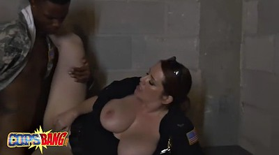 Soldier, Uniform, Fake cop, Blonde milf