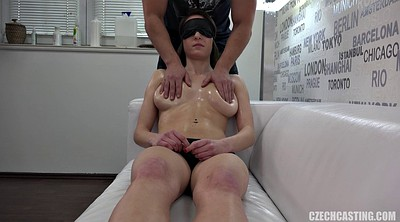 Czech massage, Czech, Czech casting, Massage oil, Blindfolded