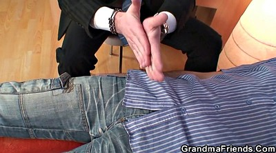 Mature, Grandma, Granny mature, Wife threesome, At work