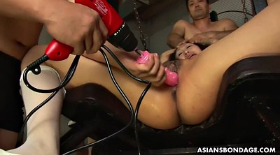 Machine, Japanese bdsm, Tied, Japanese dildo, Machine dildo, Brutal sex