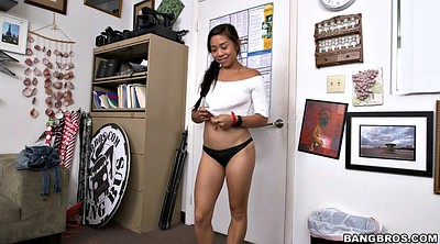 Office, Asian solo, Undressed