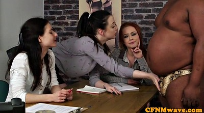 Female agent, Femdom group, Black female